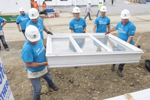 Whirlpool employees - All Weather windows product - Habitat for Humanity International's Jimmy & Rosalyn Carter Work Project in Edmonton, Canada on Wednesday, July 12, 2017.