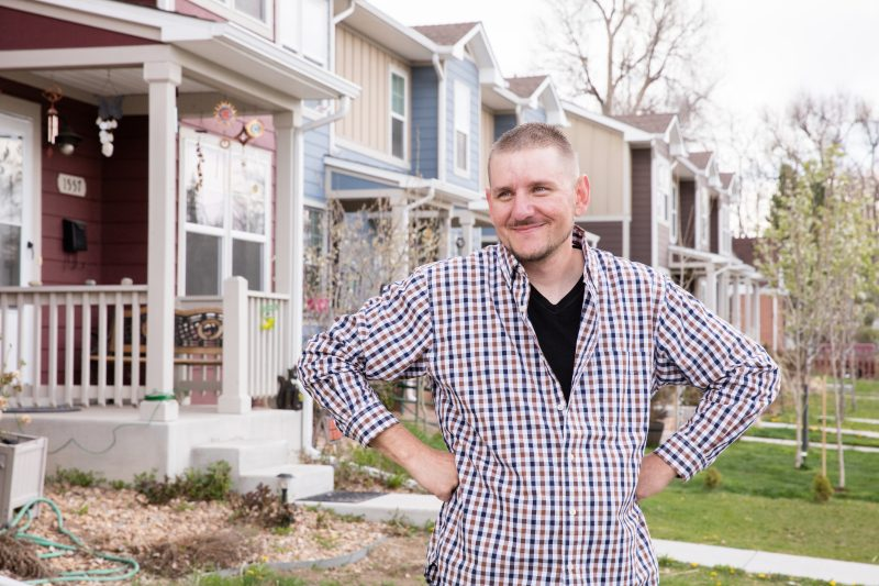DENVER, COLORADO, USA (4/12/16)-Justin Ball (pictured) and his son Jordan live in a Habitat for Humanity home in Denver.   © Habitat for Humanity International/Ezra Millstein